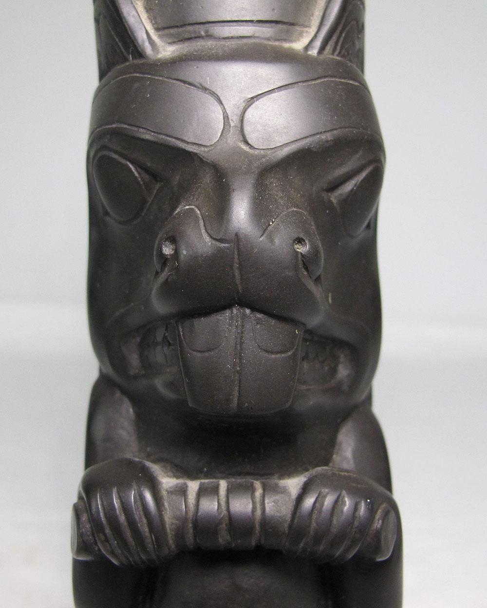 Haida gwaii west coast native st nations argillite totem